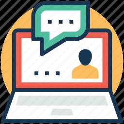 feedback, opinion, reaction, remarks, testimonials icon