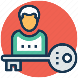access control, access key, admin, privacy, security icon