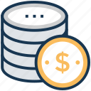 budget, donation, inexpensive, marketing budget, money counting icon
