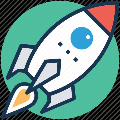 business startup, launch, rocket, spacecraft, startup icon