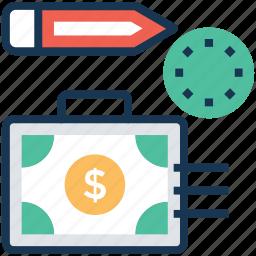 cash bag, cash flow, finance budget, financial planning, project budget icon