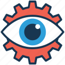 affiliate marketing, creative production, cyber eye, eye gear, industry and vision concept icon