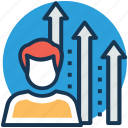 business achievement, career advancement, job ranking, professional growth, work progress icon