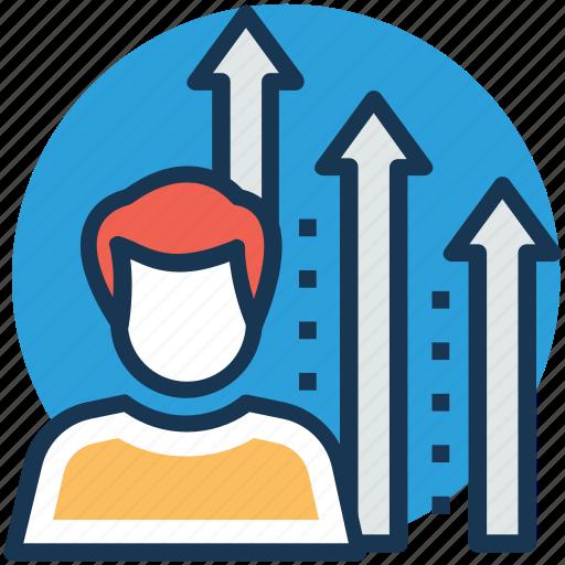 business achievement, career advancement, job ranking, professional growth, work progress icon