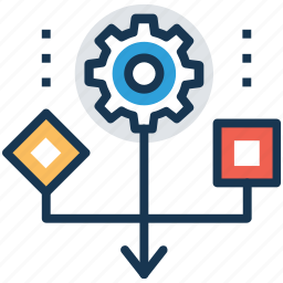 procurement, share data, systematic, workflow, workflow process icon