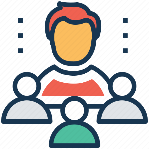 group, leadership, management, people, team icon