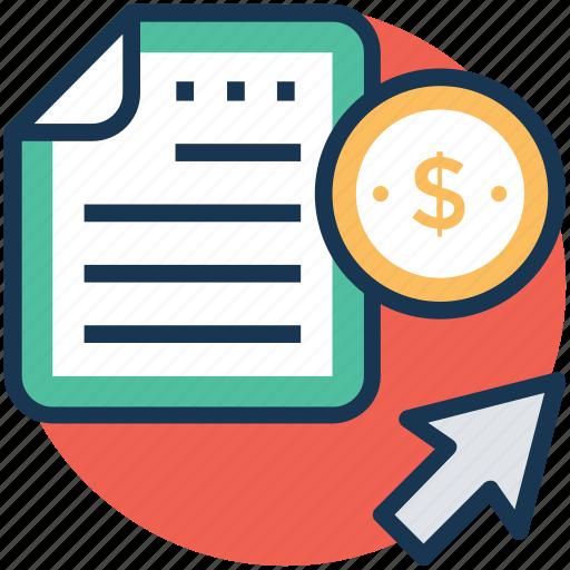 business report, cash flow statement, financial statement, online bank statement, online business icon