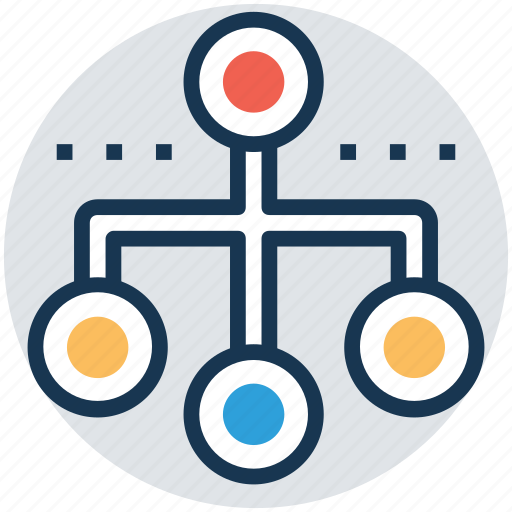 hierarchical structure, network flowchart, network hierarchy, sharing network, sitemap icon