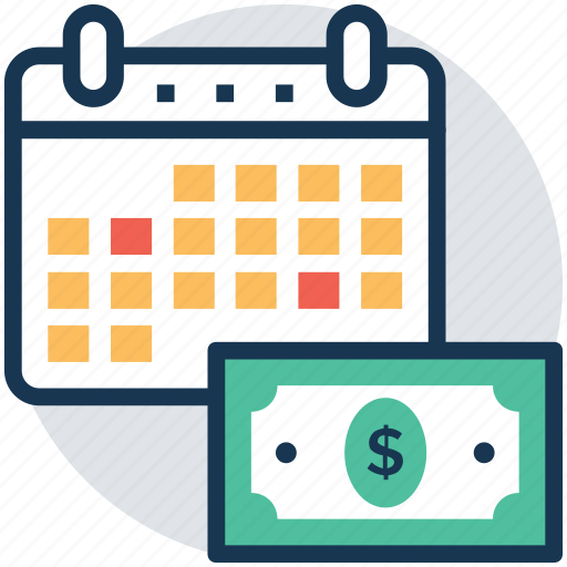 business plan, business schedule, business time, investment time, wages schedule icon