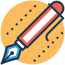 ballpen, fountain pen, ink pen, pen, write icon