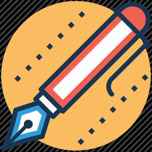 ballpen, fountain pen, ink pen, pen, write icon