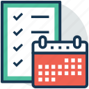 event, task management, task planning, task schedule, work schedule icon
