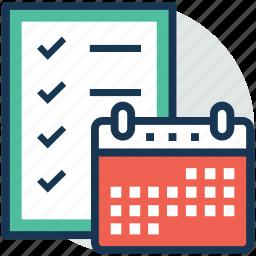 event, task management, task planning, task schedule, work schedule icon