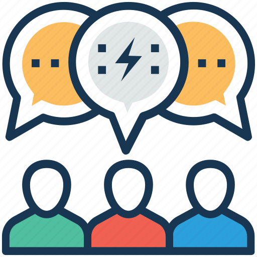 business meeting, collaboration, conference, conversation, talk icon
