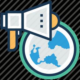 global management, global organization, international organisation, world organization, worldwide advert icon