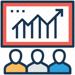 analysis, productivity, statistics, survey graph, team efficiency icon