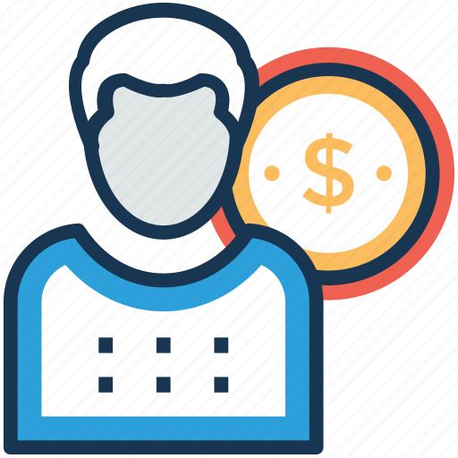 employee cost, employee salary, employee wages, staff wages icon