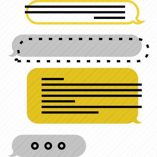 bubble, chat, conversation, dialog, discussion, message, texting icon