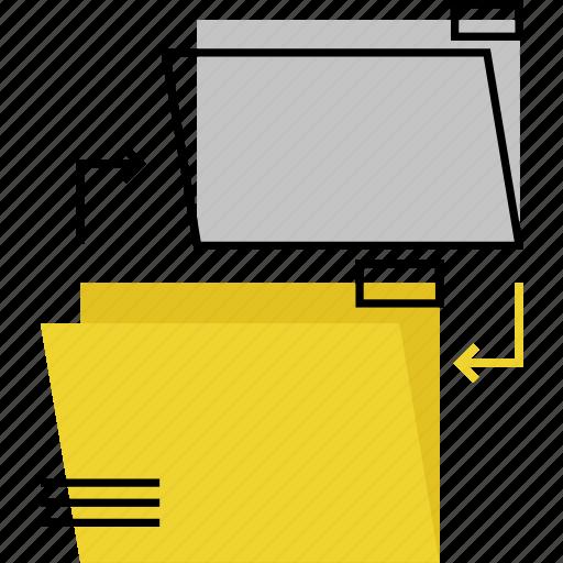 data, exchange, files, folders, sharing, sync, synchronization icon
