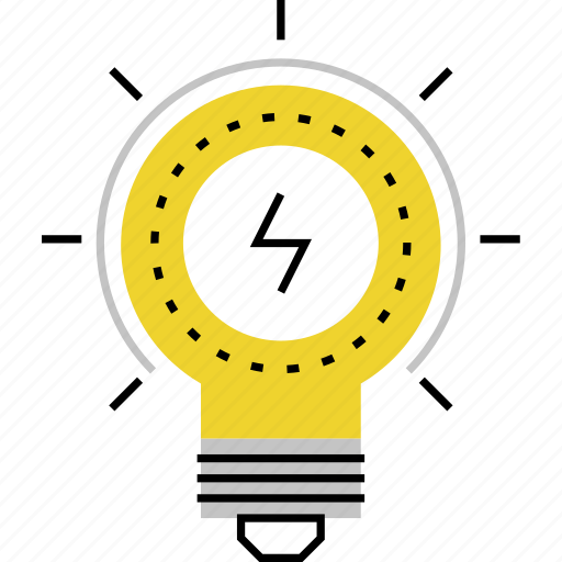 ideas, innovation, invention, light, new, solution, solving icon