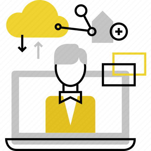 freelancer, online, outsource, remote, service, support, work icon