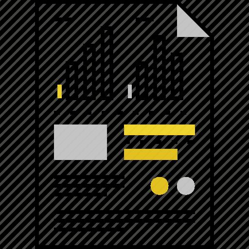chart, data, file, index, information, sheet, statistics icon