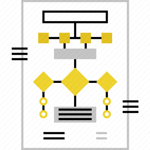 business, logic, process, scheme, structure, system, workflow icon