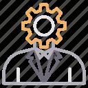 management, manager, profile, setting icon
