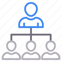 connection, employee, network, user icon