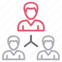 connection, employees, network, user icon