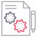 edit, file, management, project icon