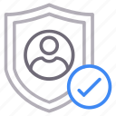 account, profile, protection, secure icon