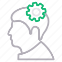 management, mind, project, setting icon
