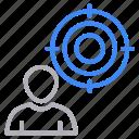 account, focus, target, user icon