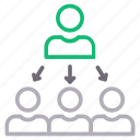 connection, employee, group, network icon