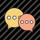 messages, conversation, chat, communication, dialog icon