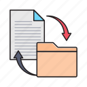 archive, document, filesharing, folder, transfer icon