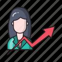 avatar, chart, employee, graph, growth