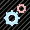cogwheel, gear, management, project, setting