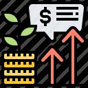 benefit, growth, investment, money, revenue