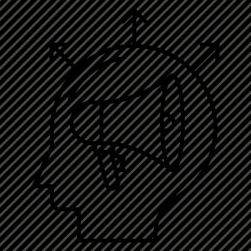 Advertisement, head, loud, megaphone, speaker icon - Download on Iconfinder