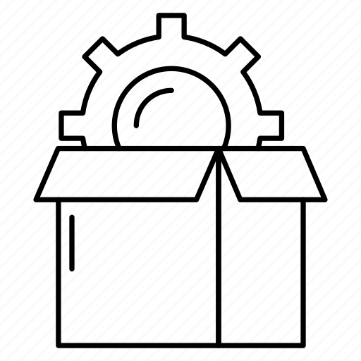 box, carton, parcel, preference, setting icon