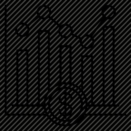 analytics, chart, finance, graph, statistics icon