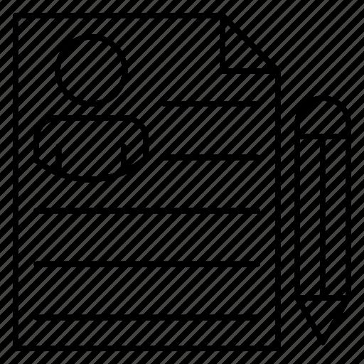 Create, cv, document, edit, resume icon - Download on Iconfinder