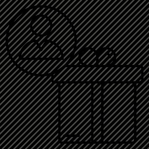 achievement, award, gift, prize, user icon