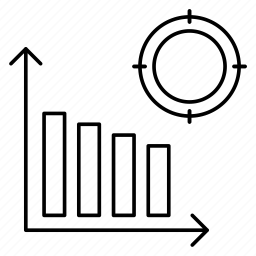 Analytics, chart, graph, statistics, target icon - Download on Iconfinder