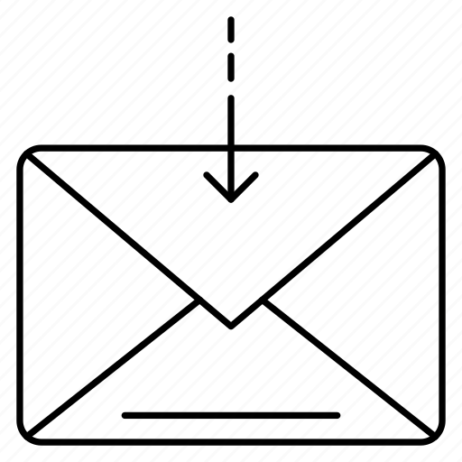 inbox, letter, mail, message, receive icon