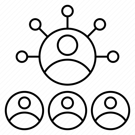 connection, employees, group, network, user icon