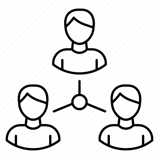 connection, employees, group, network, team icon