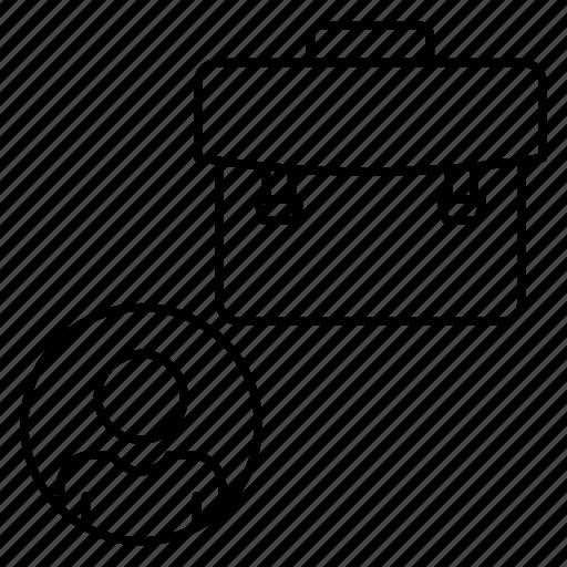 Account, bag, briefcase, job, portfolio icon - Download on Iconfinder